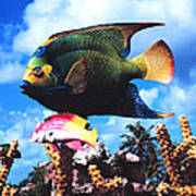 Fish Sculpture Art Print