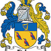 Fisher Coat Of Arms Irish Art Print