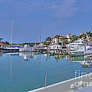 Fisher Island Marina Reflections Miami Fl 2  Art Print