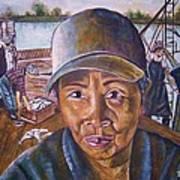 Fisher Woman Art Print by Linda Vaughon