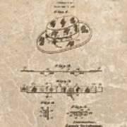 Fisherman's Hat Patent Art Print