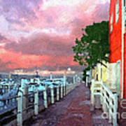 Fisherman's Village Marina Del Mar Ca Art Print