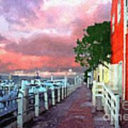 Fisherman's Village Marina Del Mar Ca Art Print