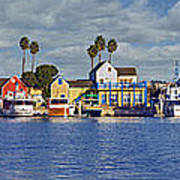 Fisherman's Village Marina Del Rey Ca Art Print