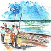 Fishermen In Praia De Mira 02 Art Print