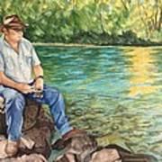 Fishing At Aviemore Art Print
