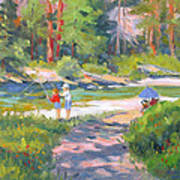 Fishing At Kennedy Meadows Art Print
