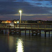 Fishing At Soundside Park In Surf City Art Print by Mike McGlothlen