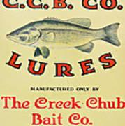 Fishing Bait Advertising Sign Art Print