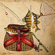 Fishing Basket  Art Print