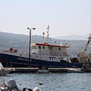 Fishing Boat Apostolos - Samos Art Print