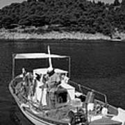 Fishing Boat In Asos Village Art Print