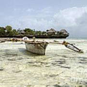 Fishing Boat In Zanzibar Art Print