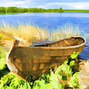 Fishing Boat Kizhi Island Art Print
