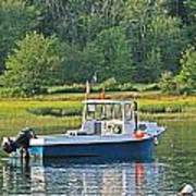 Fishing Boat Cape Neddick Maine Art Print