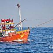Fishing Boat  Sri Lanka Art Print