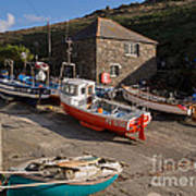Fishing Boats At Mullion Cove Art Print
