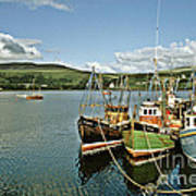Fishing Boats At Uig Skye Scotland 1994 Art Print by David Davies