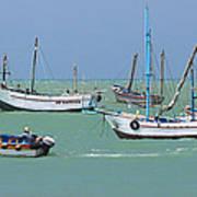 Fishing Boats - Cabo Blanco - Peru Art Print
