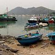 Fishing Boats - Hong Kong Art Print