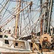 Fishing Boats In Harbour Art Print