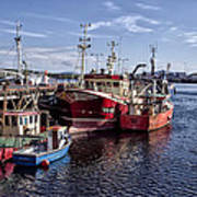 Fishing Boats In Killybegs Donegal Ireland Art Print