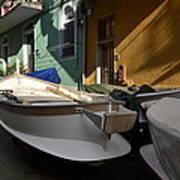 Fishing Boats In Manarola - Cinque Terre Art Print