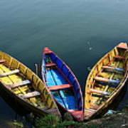 Fishing Boats - Nepal Art Print