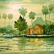 Fishing Cabin - Aucilla River Art Print