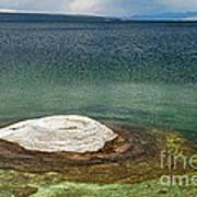 Fishing Cone In West Thumb Geyser Basin Art Print