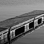 Fishing Dock Art Print by Frozen in Time Fine Art Photography