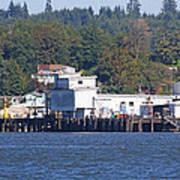 Fishing Docks On Puget Sound Art Print