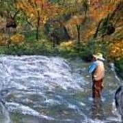 Fishing In The Fall Art Print