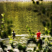 Fishing In The Pond Art Print