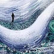 Fishing In The Rain Art Print