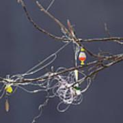 Fishing Line Sculpture Art Print