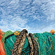 Fishing Nets And Alto-cumulus Clouds Art Print