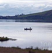 Fishing On Loch Leven Art Print