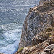 Fishing On The Cliffs Art Print