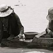 Fishing On Tonle Sap Art Print