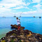 Fishing Paradise Art Print