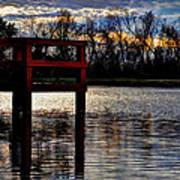 Fishing Pier Sunset  Art Print