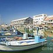 Fishing Port In Jaffa Tel Aviv Israel Art Print