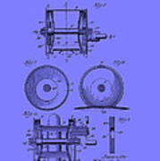 Fishing Reel Patent 1930 Art Print