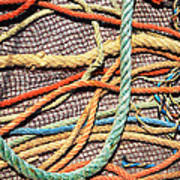 Fishing Ropes And Net Art Print