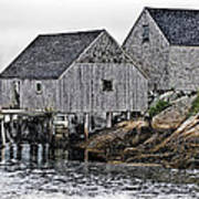 Fishing Sheds At Peggy's Cove Art Print