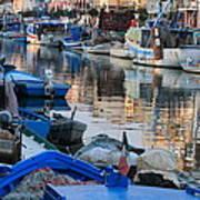 Fishing Ships In Grado Art Print