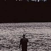 Fishing Silhouette Art Print