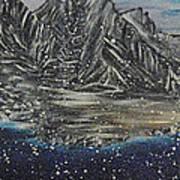 Fishing Village In  Winter Art Print
