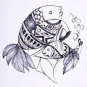Fishy Art Print by Chibuzor Ejims
